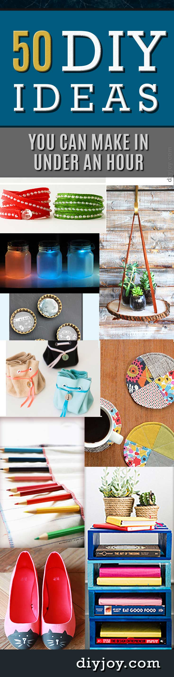 easy diy craft ideas 50 diy projects you can make in an hour diy 4349