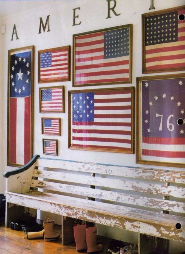 Rustic DIY Ideas With the American Flag | Patriotic Flag Country Crafts and  DIY Projects for