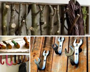 30 Insanely Crafty Vintage DIY Coat Hooks Your Home Needs