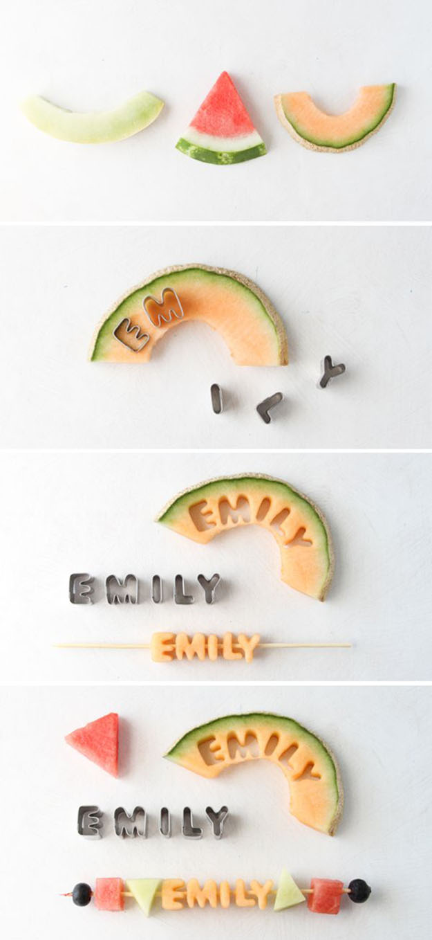 DIY Party Food Ideas | Fruit Kebab Name Cards for a Crowd | DIY Projects & Crafts by DIY JOY #appetizers #partyfood #recipes