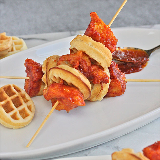Party Food Ideas | Finger Food for a Crowd | Korean Chicken & Waffles Recipe | DIY Projects and Crafts by DIY JOY #appetizers #partyfood #recipes