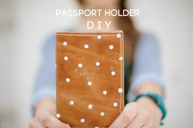 DIY Gifts for Men & Women | Crafts for Teens to Make | DIY Leather Passport Holder | DIY Projects & Crafts by DIY JOY#diygifts #christmas #diy #gifts