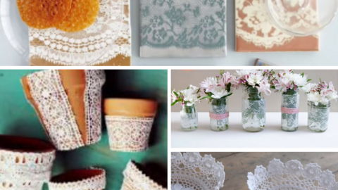 40 Adorable DIY Projects with Lace You'll Fall in Love With | DIY Joy Projects and Crafts Ideas