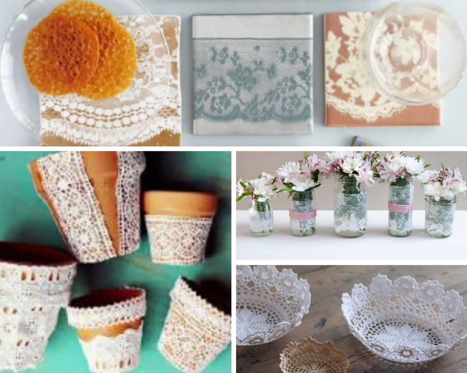 40 adorable diy projects with lace you 39 ll fall in love with