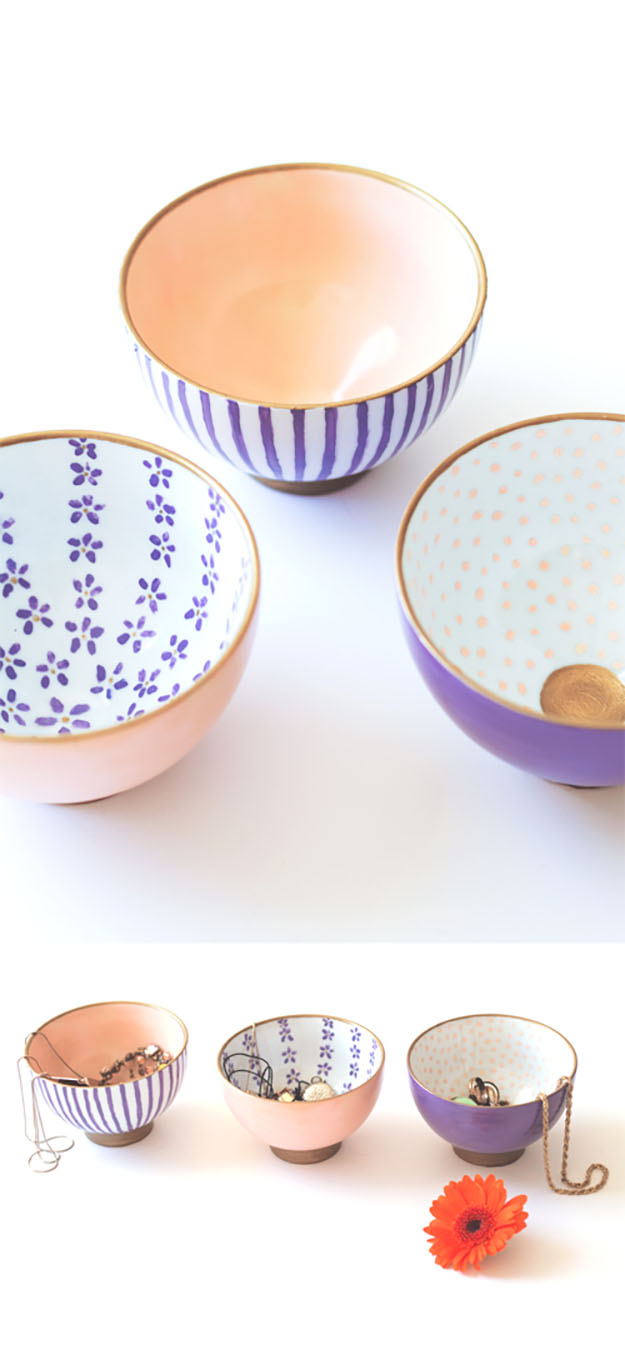 DIY Gifts for Women | Anthropologie DIY Hack | DIY Painted Dishes | DIY Projects & Crafts by DIY JOY at http://diyjoy.com/cheap-diy-gifts-ideas