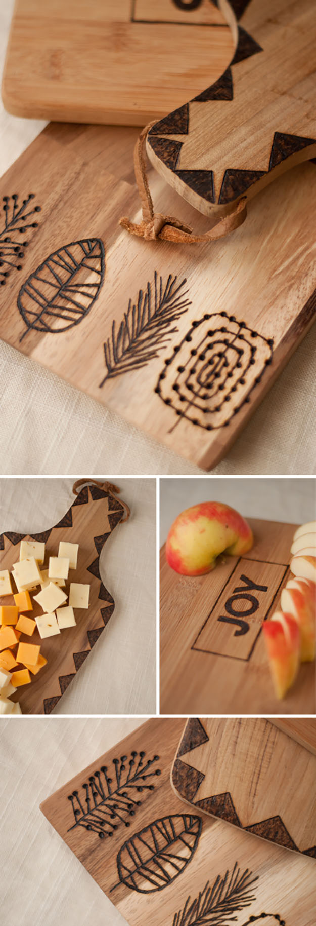 DIY Gifts for Friends & Family | DIY Kitchen Ideas | Etched Wooden Cutting Boards | DIY Projects & Crafts by DIY JOY#diygifts #christmas #diy #gifts