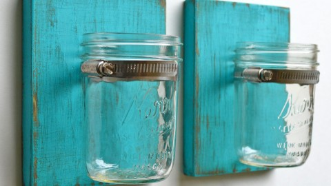 A DIY Mason Jar Sconce Is All Your Home Needs | DIY Joy Projects and Crafts Ideas