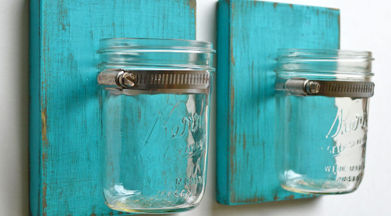 A DIY Mason Jar Sconce Is All Your Home Needs
