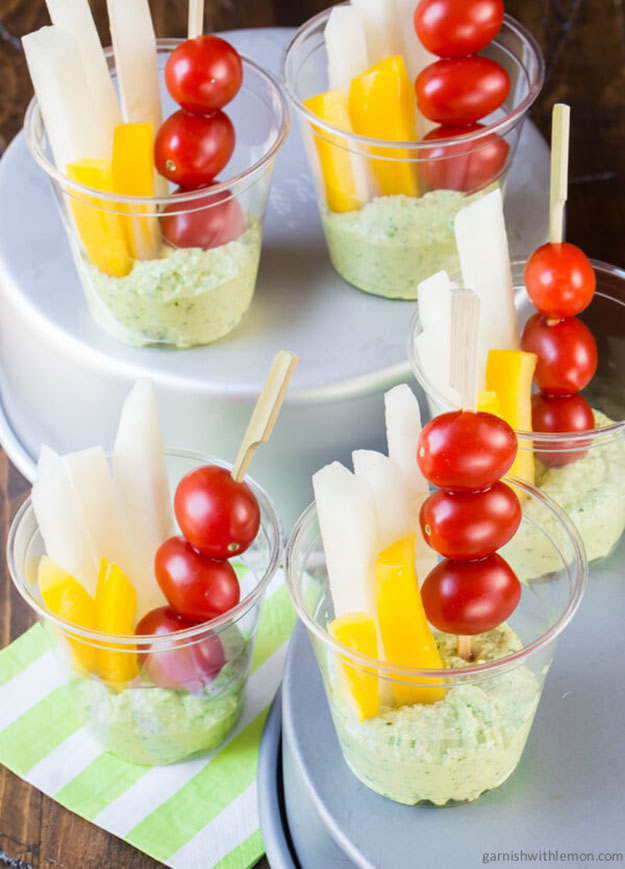 Summer Party Food Ideas Veggies Pesto Dip Recipe Diy Projects And Crafts By