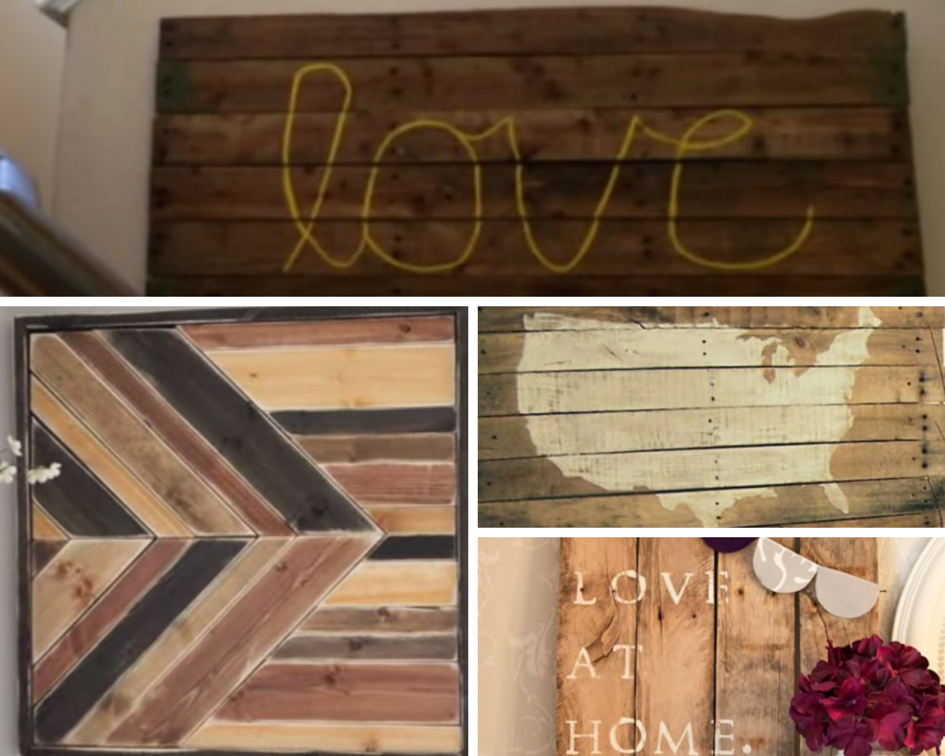 Wood Pallet Wall Art Ideas Diy Joy