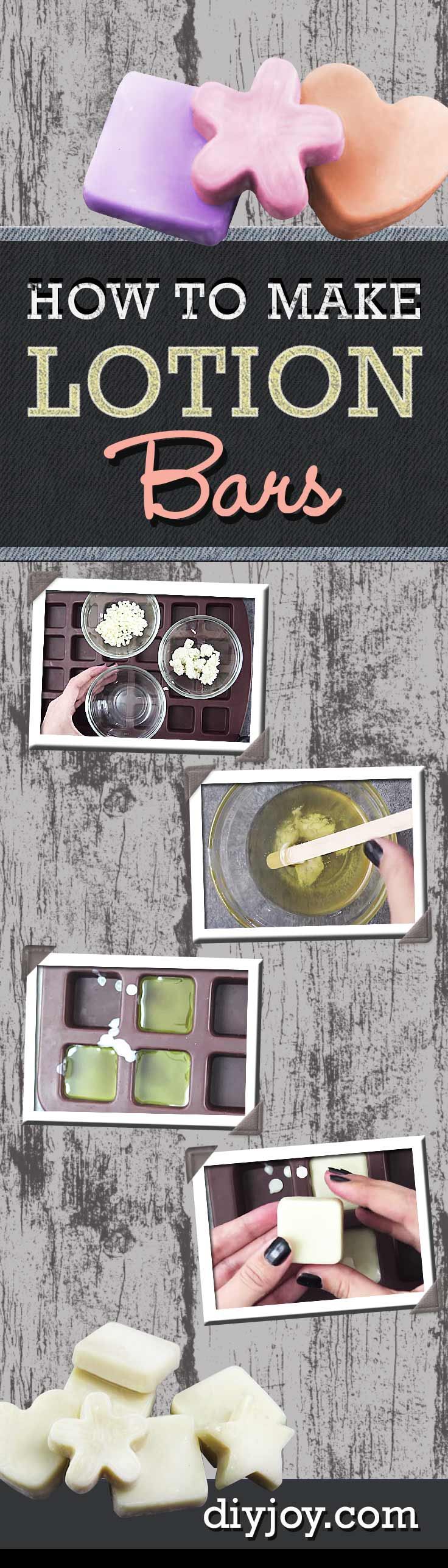 Cool DIY Projects - DIY Lotion Bars Make Cool DIY Gifts. Learn How To Make Homemade Lotion Bars - Recipe Like Lush http://diyjoy.com/diy-lotion-bars