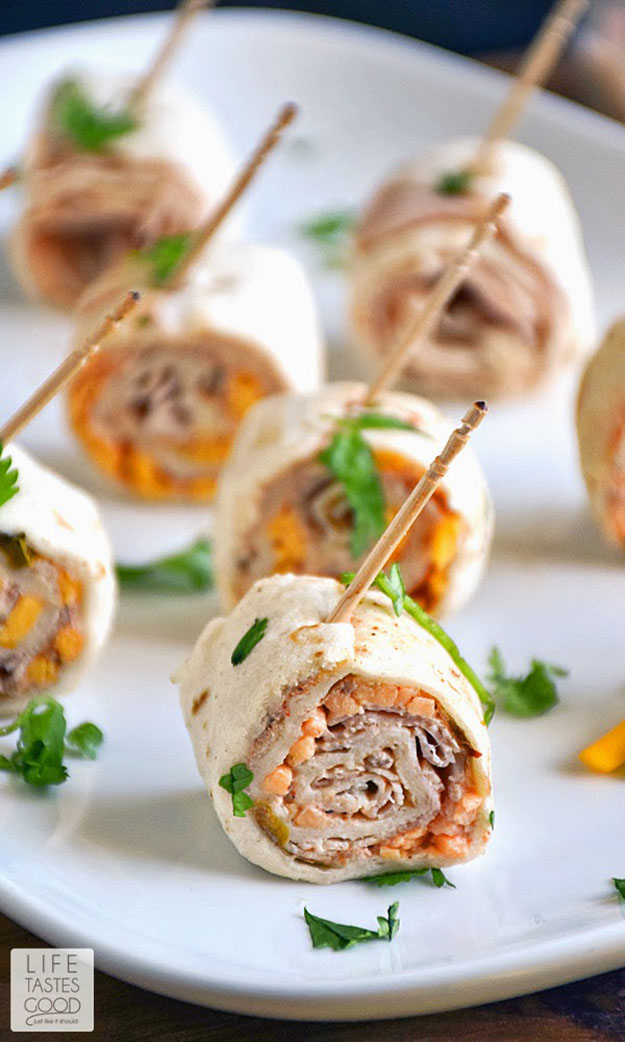 Cheap Party Food Ideas | Turkey Taco Roll Up Bites | DIY Projects & Crafts by DIY JOY #appetizers #partyfood #recipes