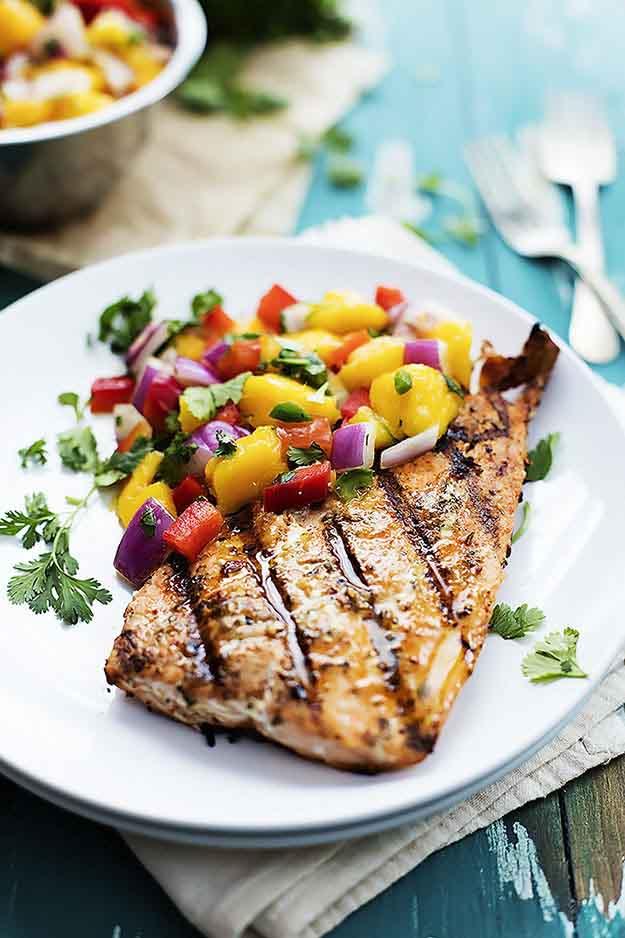 Healthy Fish Recipes for Summer | BBQ Salmon Recipe Ideas | DIY Projects & Crafts by DIY JOY at http://diyjoy.com/grilling-recipes-diy-bbq-ideas