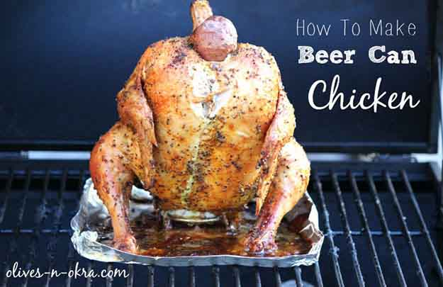 Easy Chicken Grilling Recipes | How to Make Beer Can Chicken | DIY Projects & Crafts by DIY JOY at http://diyjoy.com/grilling-recipes-diy-bbq-ideas