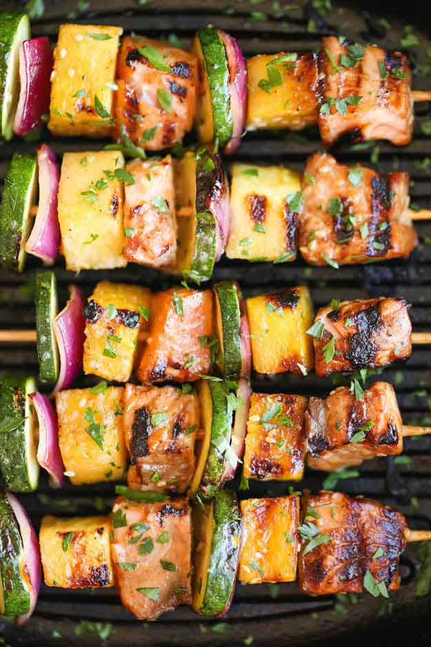 BBQ Salmon Grilling Recipes | Healthy Grilled Fish Recipe Ideas | DIY Projects & Crafts by DIY JOY at http://diyjoy.com/grilling-recipes-diy-bbq-ideas