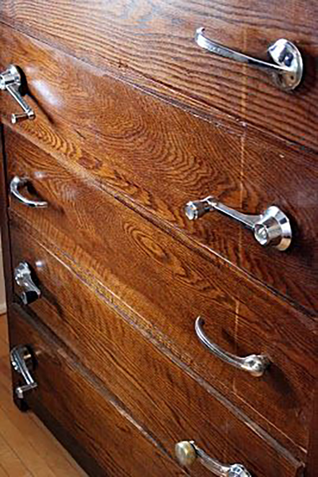 Old Car Parts Upcycling Ideas - Car Handles Repurposed into Drawer Pulls - DIY Projects & Crafts by DIY JOY #diy
