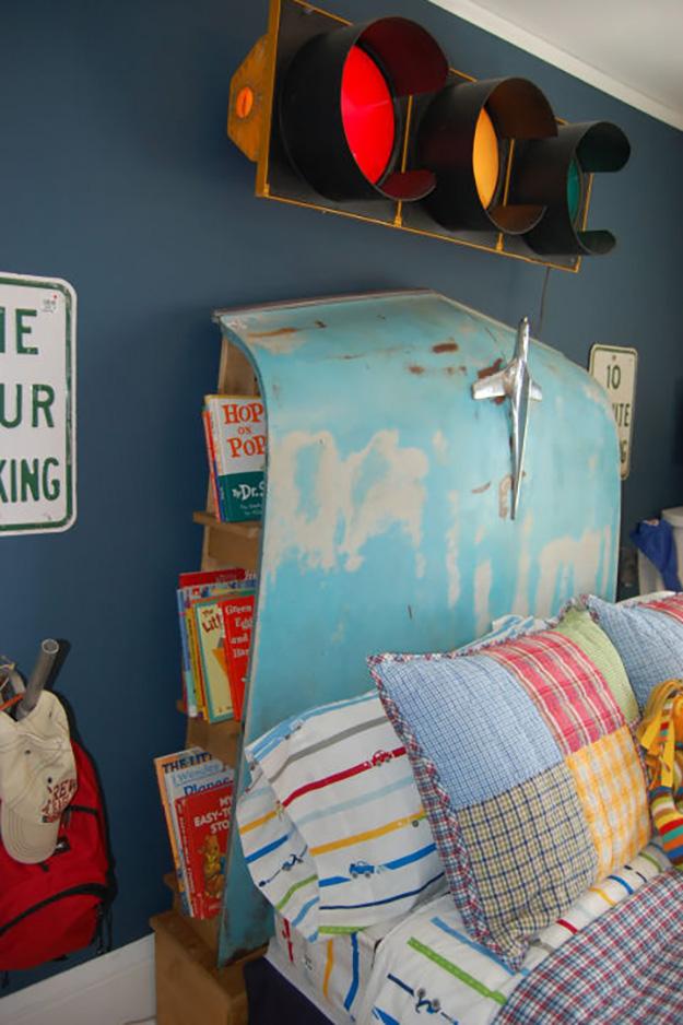 Upcycled Old Car Parts - Car Hood DIY Headboard - DIY Projects & Crafts by DIY JOY #diy