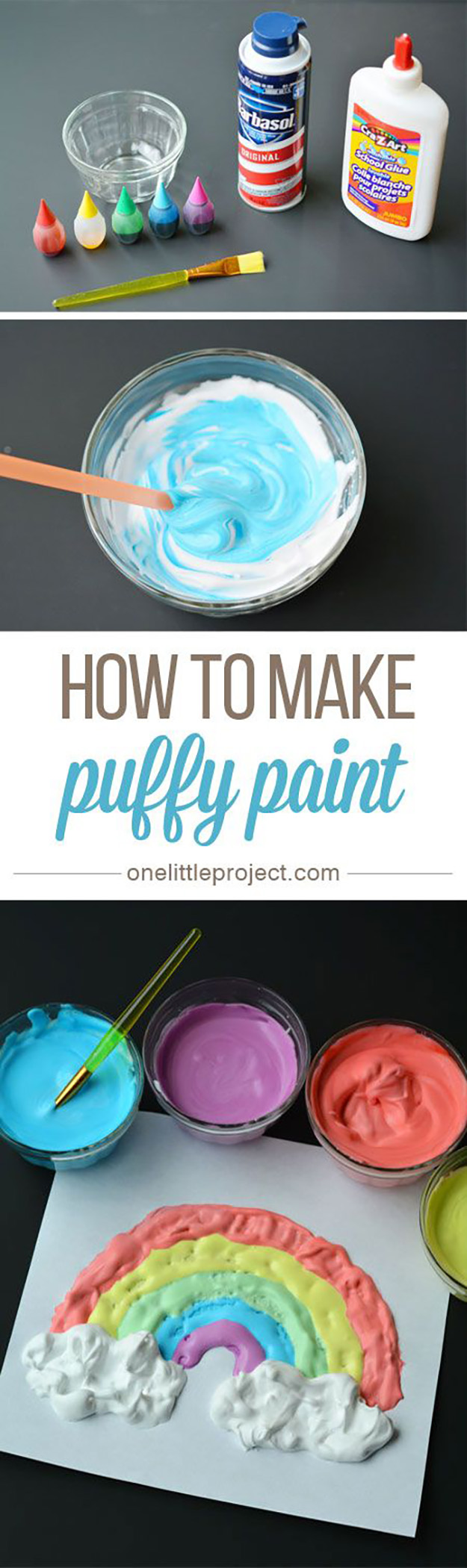 Simple Crafts for Kids to Make   DIY Puffy Paint Tutorial   Easy DIY Craft Ideas for Kids  DIY Smoothie Paint   DIY Projects & Crafts by DIY JOY at http://diyjoy.com/pinterest-crafts-for-kids-diy-paint