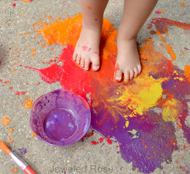 Fun Outdoor Crafts for Kids   DIY Scented Sidewalk Chalk Simple Craft Ideas for Kids to Make   DIY Paint for Art Projects Cheap Outdoor Crafts for Kids to Make   DIY Mud Paint   DIY Projects & Crafts by DIY JOY at http://diyjoy.com/pinterest-crafts-for-kids-diy-paint