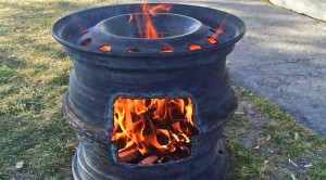 Old Tire Rims Make For The Best DIY Fire Pits!
