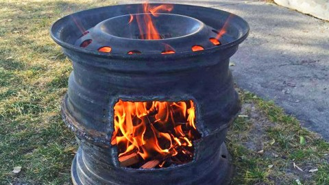 Old Tire Rims Make For The Best DIY Fire Pits | DIY Joy Projects and Crafts Ideas