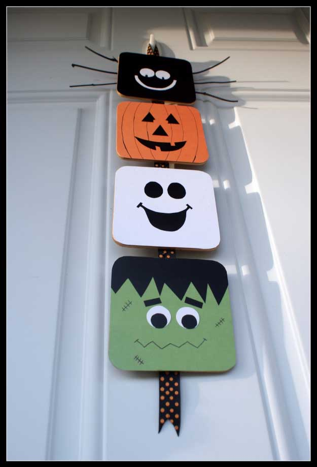 easy diy halloween decorations quick ideas for adults kids and teens halloween door - Homemade Halloween Centerpieces