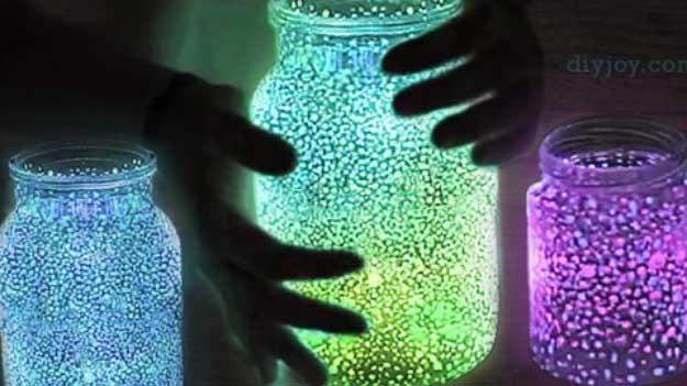 Easy DIY Halloween Decorations   Quick Ideas for Adults, Kids and Teens   Mason Jar Patio Lights   Mason Jar Fairy Lights