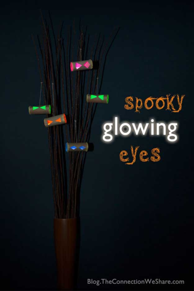 Easy DIY Halloween Decorations   Quick Ideas for Adults, Kids and Teens   spooky glowing eyes