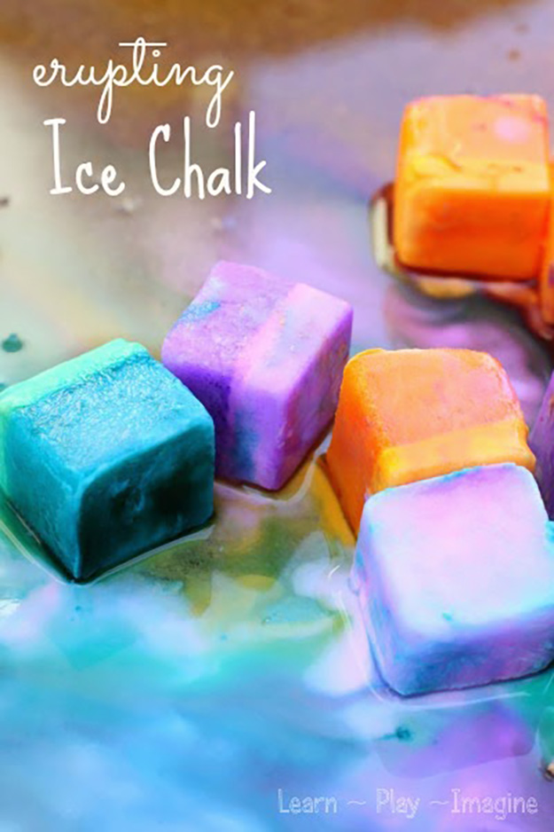 Fun Crafts for Kids to Make | Fun DIY Ice Chalk Paint Projects | DIY Projects & Crafts by DIY JOY at http://diyjoy.com/pinterest-crafts-for-kids-diy-paint