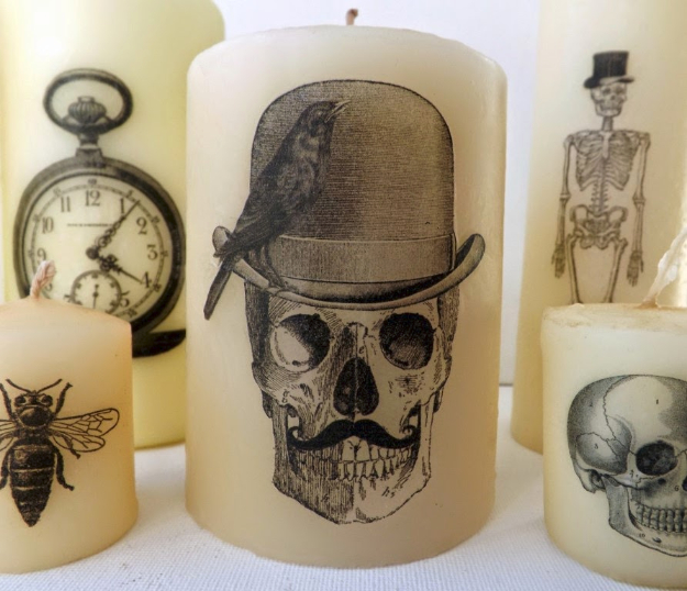 Easy DIY Halloween Decorations   Quick Ideas for Adults, Kids and Teens   Halloween DIY Printed Candles