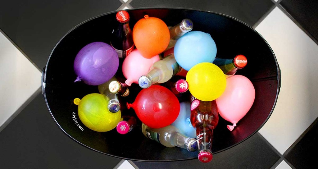 Easy DIY Ideas for Parties and Quick Do It Yourself Decor | Frozen Water Balloons for Drinks at http://diyjoy.com/pinterest-crafts-diy-party-decorations