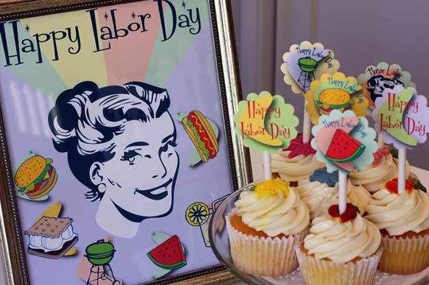 Labor Day Party DIY Decor Ideas - Retro Labor Day Free Printables - DIY Projects & Crafts by DIY JOY at http://diyjoy.com/party-ideas-labor-day-food-diy-decor