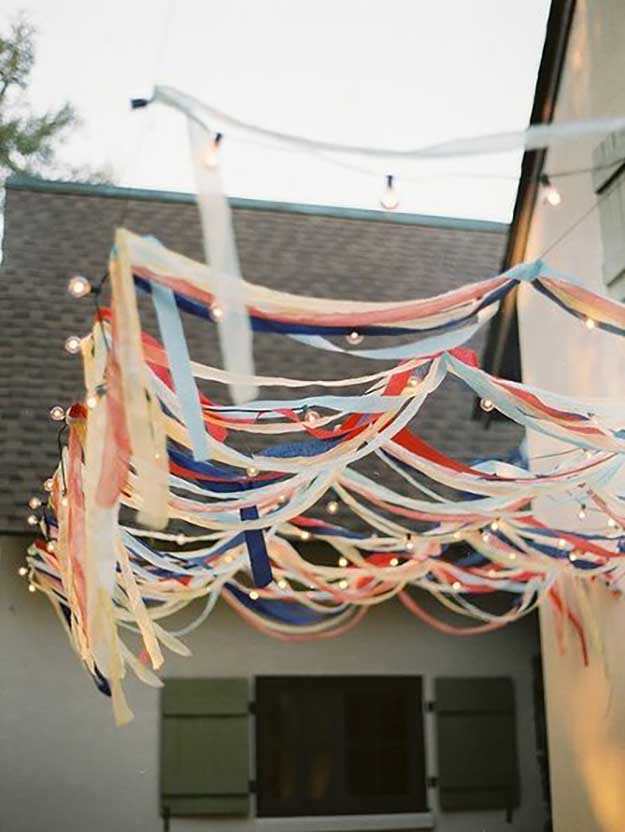 Labor Day Party DIY Decor Ideas - Patriotic Decor on a Budget - DIY Projects & Crafts by DIY JOY at http://diyjoy.com/party-ideas-labor-day-food-diy-decor