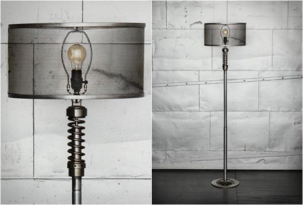 Old Car Parts Repurposed to DIY Decor - Suspension Pieces Upcycled Lamp - DIY Projects & Crafts by DIY JOY #diy
