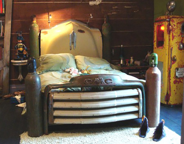 Old Car Parts Repurposed - Upcycled Truck Bed Frame - DIY Projects & Crafts by DIY JOY #diy
