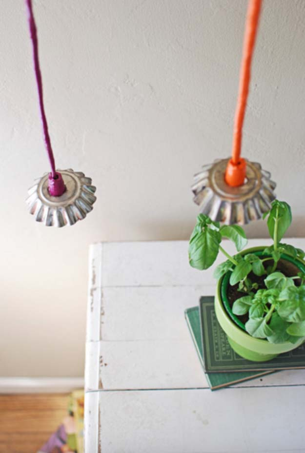 DIY Lighting Ideas and Cool DIY Light Projects for the Home. Chandeliers, lamps, awesome pendants and creative hanging fixtures,  complete with tutorials with instructions | Vintage Tart Tin Lights | http://diyjoy.com/diy-projects-lighting-ideas