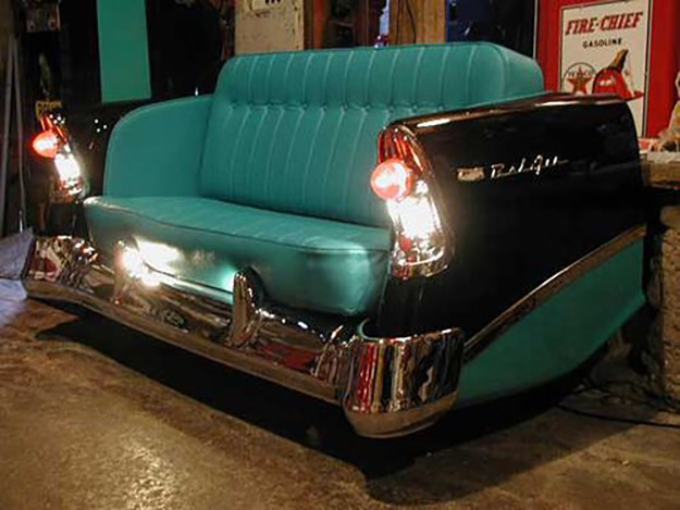 Upcycled Old Car Parts Furniture - Repurposed Sofa from Vintage Car Frame - DIY Projects & Crafts by DIY JOY #diy