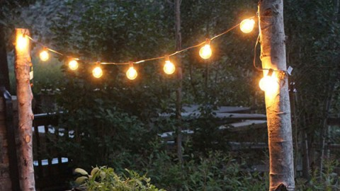 Get This Romantically Rustic DIY Backyard Lighting For Less Than $20 | DIY Joy Projects and Crafts Ideas