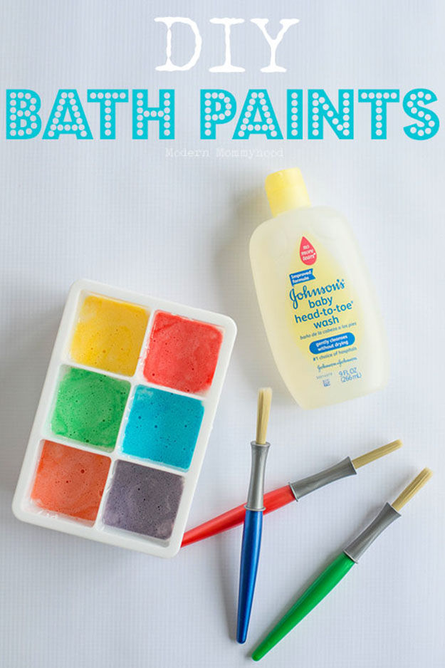 Fun DIY Arts and Crafts for Kids   Easy DIY Bath Paints   DIY Projects & Crafts by DIY JOY at http://diyjoy.com/pinterest-crafts-for-kids-diy-paint
