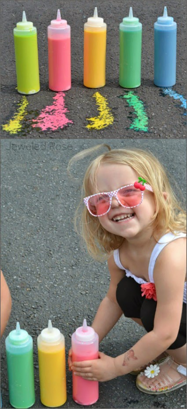 Quick & Easy Crafts for Kids to Make   DIY Sidewalk Chalk Paint   DIY Projects & Crafts by DIY JOY at http://diyjoy.com/pinterest-crafts-for-kids-diy-paint
