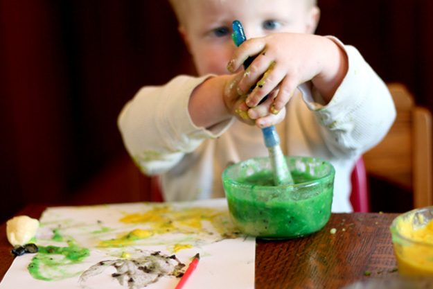 Fun Arts and Crafts for Kids   Easy DIY Edible Paint for Babies   DIY Projects & Crafts by DIY JOY at http://diyjoy.com/pinterest-crafts-for-kids-diy-paint
