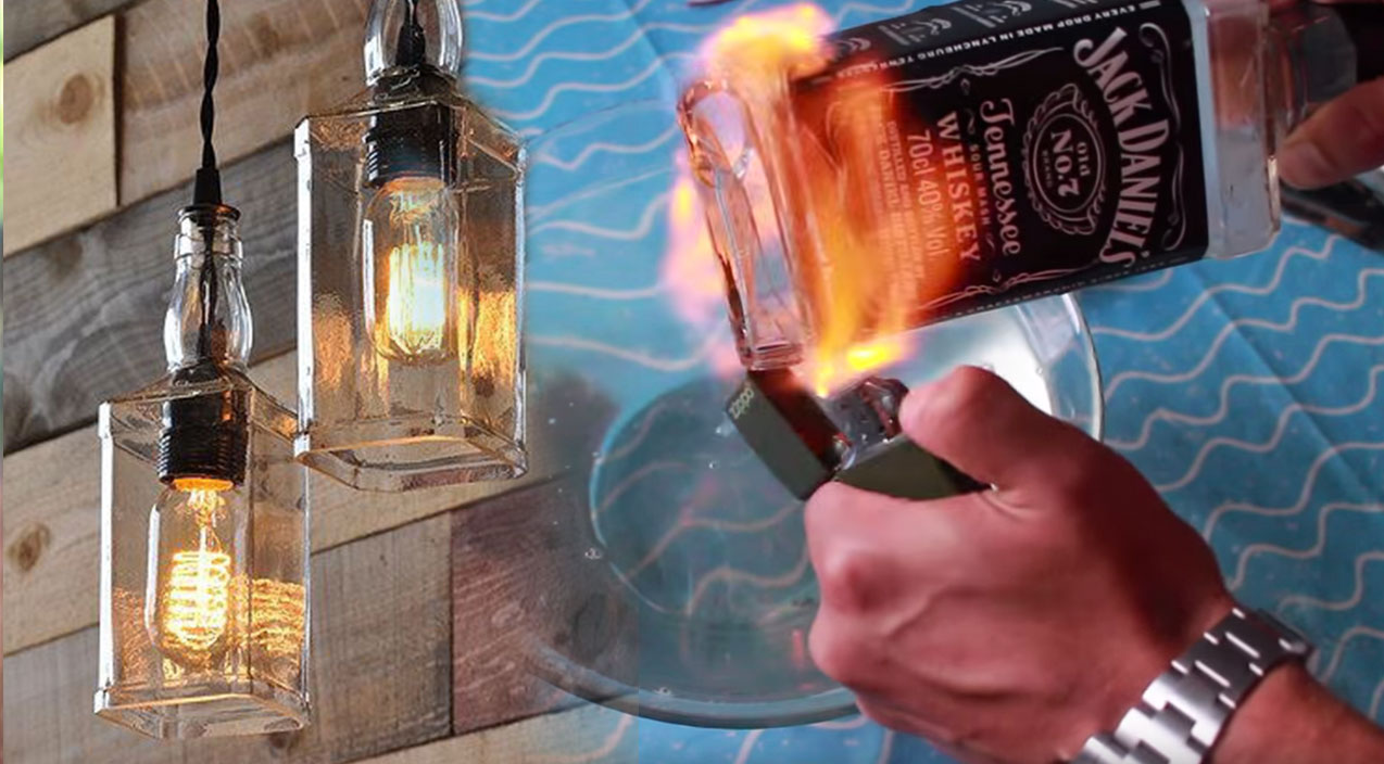 Wonderful Upcycle Old Liquor Bottles Into This Incredible DIY Lighting Project DK63