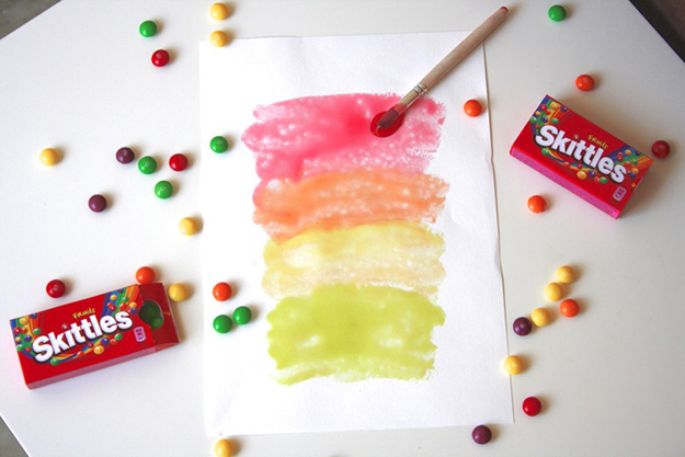 Fun Crafts for Kids to Make   DIY Glossy Paint from Skittles   DIY Projects & Crafts by DIY JOY at http://diyjoy.com/pinterest-crafts-for-kids-diy-paint