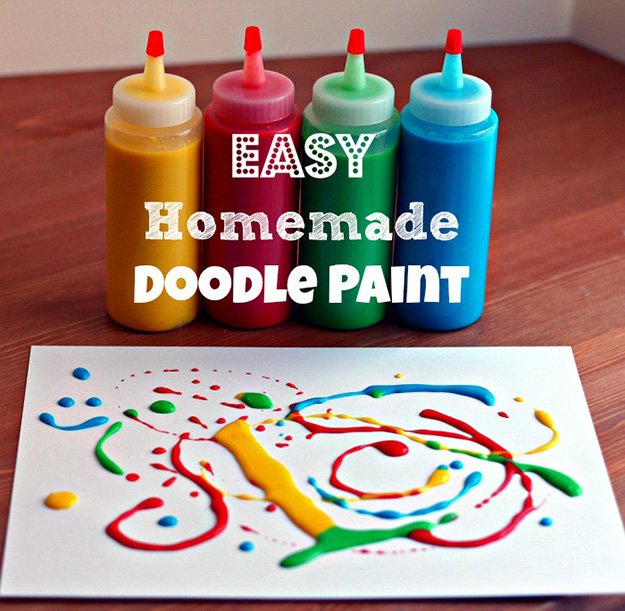 Fun Arts and Crafts for Kids to Make   DIY Squirt Paint   DIY Projects & Crafts by DIY JOY at http://diyjoy.com/pinterest-crafts-for-kids-diy-paint