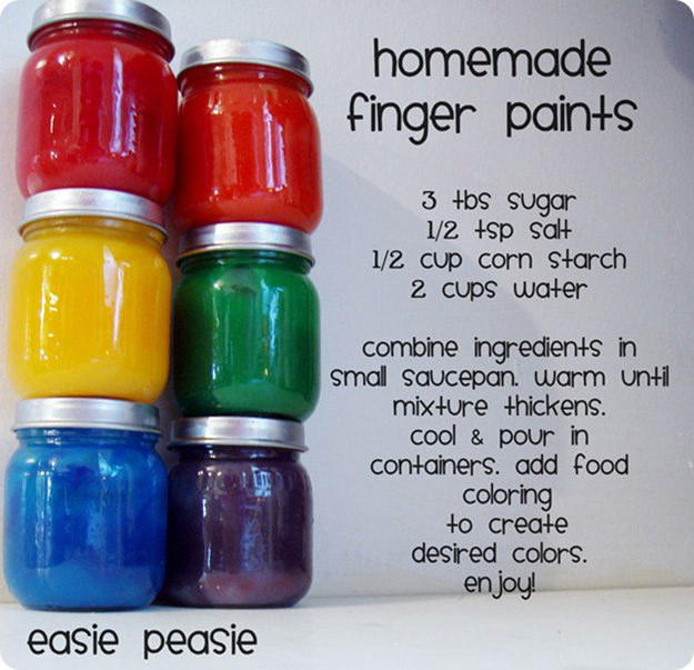 Easy DIY Crafts for Kids to Make   Fun Homemade Finger Paints   DIY Projects & Crafts by DIY JOY at http://diyjoy.com/pinterest-crafts-for-kids-diy-paint