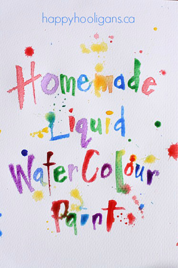 Quick Crafts for Kids to Make | DIY Liquid Watercolor PaintsFun Outdoor Crafts for Kids | DIY Scented Sidewalk Chalk Simple Craft Ideas for Kids to Make | DIY Paint for Art Projects Cheap Outdoor Crafts for Kids to Make | DIY Mud Paint | DIY Projects & Crafts by DIY JOY at http://diyjoy.com/pinterest-crafts-for-kids-diy-paint