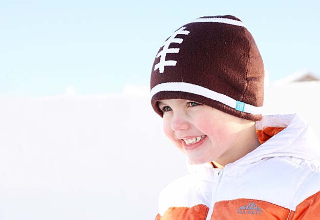 Fun DIY Projects for Kids - DIY Sewing Tutorial for a Football Beanie - DIY Projects & Crafts by DIY JOY #diy #quickcrafts #crafts #easycraftss