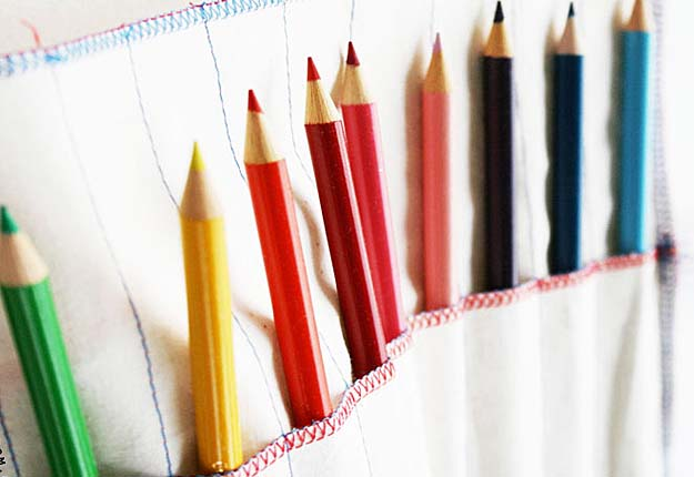 Fun DIY Projects for Kids - Easy DIY Sewing Tutorial for Art Supplies Organization - DIY Projects & Crafts by DIY JOY #diy #quickcrafts #crafts #easycraftss