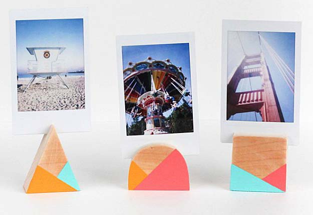 Easy Dollar Store DIY Projects for Teens to Make - Geometric DIY Photo Frame - DIY Projects & Crafts by DIY JOY #diy #quickcrafts #crafts #easycraftss