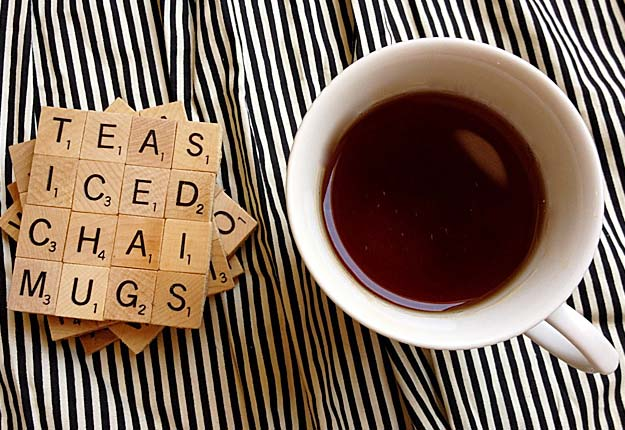 50 diy projects you can make in under an hour fun diy projects for the home easy do it yourself coasters from scrabble tiles solutioingenieria Image collections